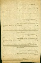 Image of Page of four blank soldier's furlough forms.  All dated 1864 and intended for use by Confederate hospitals in Virginia.  