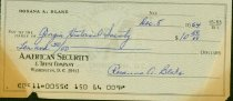 Image of Personal check of Rosanna Blake payable to Georgia Hist. Society for $10.50 dated 5 Dec. 1964.  - 2001.0703