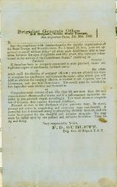 Image of Two General Orders from the Brigadier General's Office, 3rd Texas Brigade, Texas State Troops, 1862, signed by F. B. [Franklin Bolivar] Sublett, Brig Gen.  - 2001.0703