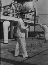 Image of Curtis Baxter, on SS Saturnia, 1931