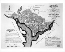 Image of Plan of city of Washington, DC, 1800, from Library of Congress, b&w copyprint - 1998/05.0670