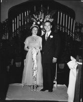 Image of Bob & Lois Myers weddibng, 1949