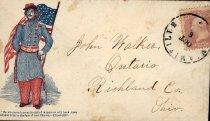 Image of Cachet or patriotic envelope, 1861