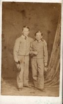 Image of Two boys in Confederate uniforms