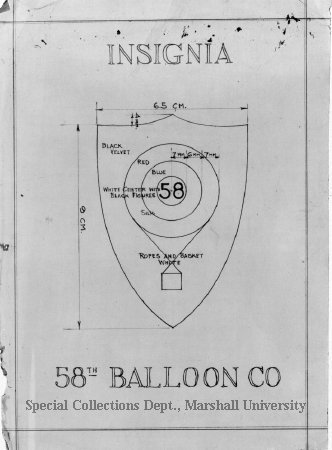 Blueprint design of insignia of the us army 58th balloon company blueprint design of insignia of the us army 58th balloon company wwi 1993020559 malvernweather Image collections