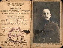 Image of WWI AEF identity card, Benson J. Lubin