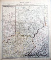 Image of North America: Sheet VIII-Ohio, with parts of Kentucky & Virginia, 1833, hand colored - 2015/07.0826