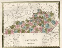 Image of Thomas Gamaliel Bradford's Map of Kentucky, 1838, hand colored - 2015/07.0826