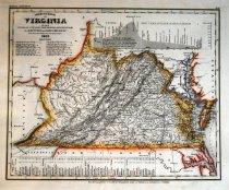 Image of Neustre karte von virginia mit seinem canaelen, 1845, hand colored - 2015/07.0826