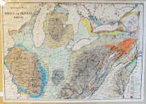 Image of Geological map of the Middle and Western States, 1850, hand colored - 2015/07.0826