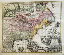 Image of Matthaeis Seutteri (Settler)'s copy of Henri Chatelain's map of 1719, hand-colored (ca.1730) - 2015/07.0826