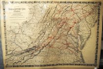 Image of Map of Virginia, Kentucky and Ohio Roailroad, 1881, by Colton, hand colored - 2015/07.0826