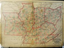 Image of New Topographical Atlas & Gazette of Indiana, Ohio, Illinois, Missouri, Kentucky and Tennessee, hand colored - 2015/07.0826