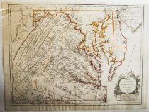 Image of Map of Virginia and Maryland by Robert de Vaugondy, 1755, hand-colored  - 2015/07.0826