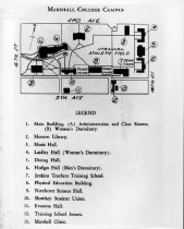 Image of Map of Marshall College campus, ca. 1942, b&w -