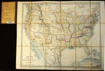 Image of Stanford's 1861 map of the U.S., showing the seceding states, col. - 2001.0703
