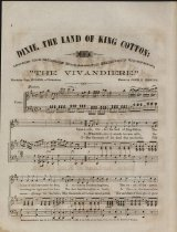 """Image of 1st  page: """"Dixie, the land of King Cotton"""""""