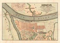 Image of Map of Kenova, W.Va., at the confluence of the Ohio and Big Sandy Rivers. - 2014/09.0818
