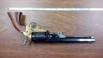Image of Percussion, black powder, 6-shot, .44 caliber revolver, reproduction of Colt Navy model. - 2001.0703