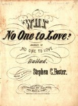 """Image of Cover: """"Why no one to love?"""""""
