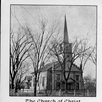 """Image of Postcard - Postcard: """"The Church of Christ, (Trinitarian Congregational), Bedford, Mass."""" Undated, but shows effects of 1886 renovations."""