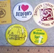 Image of Button - Several pieces of Bedford ephemera: