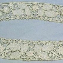 Image of Cuff - Pair of handmade lace cuffs, 1900.