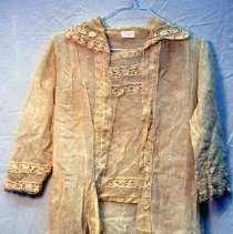 Image of Overdress - Woman's overdress, 1919-21, incomplete. Sheer.