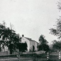 Image of Photograph - Looking south from Common along South Road.  24-26 South Road on left