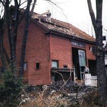 Image of Photograph - Barn at rear of Jonas Monroe House ca.1954. Barn later demolished.