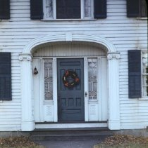 Image of Photograph - Front entryway of Amos Cutler House. 1960 photo.