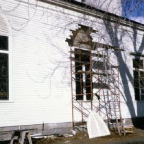 Image of Photograph - Church exterior during 1964-1965 renovations.