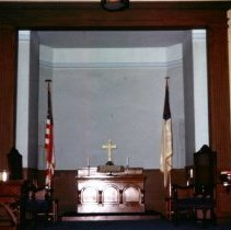 Image of Photograph - Pulpit during 1964-1965 renovations.