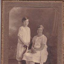 "Image of Photograph - Photo, inscription on reverse: ""1926, Elinor (12) & Olive (9)"""