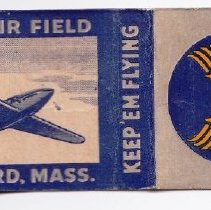 """Image of Matchbook - Bedford Army Airfield matchbook: """"Keep 'Em Flying"""" - presumably from the 1940s."""