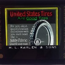 Image of Dwight Cleveland Collection - United States Tires are Good Tires - H.L. Karlen & Sons