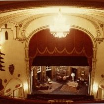 Image of NY-NYC-MAN-Golden auditorium to stage circa 1980 TH 23-568