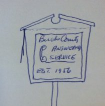 Image of Borough Permits - Robin Teisler  Erected Electric Sign Same 77 W. Court St. Doylestown, Pa  Permit #262 Secretary: J. G. Pearsall  North Wall; unit 3; self A; box 12 More documentation may be available at DHS