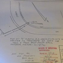 Image of Borough Permits - Philadelphia Electric Co.  Excavation Meadow Lane Doylestown Boro  Permit No.# '71-3 Boro Manager: J. G. Pearsall  North Wall; unit 3; self A; box 12 More documentation may be available at DHS