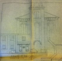 Image of Borough Permits - Donald L. Glassman  426 Pennsylvania Ave. Ft. Washington, Pa.  Alteration: Enclose entrance way for waiting room (Landmark Bldg.) For Donald Glassman  Court & Clinton Sts. corner  Enclosed w/ permit: Blueprint- First Floor Plan  Building Permit # 74-66 Bldg. Inspector: Charles Kollo  North Wall; unit 3; shelf B; box 14 More documentation may be available at DHS