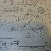 Image of Borough Permits - William Jerome ( Zenco Machine & Tool Co.) (1989 Byberry Rd. Huntington Valley) 34 Crestland Terr.  Doylestown, Pa.  Alterations- roof & wall  For William Jerome  205 N. Broad St.  Enclosed w/permit: 3 Detailed Blueprints/Sketches of Roof & Wall   Building Permit # '74-82 A Bldg. Inspector: Charles Kollo  North Wall; unit 3; shelf B; box 14 More documentation may be available at DHS