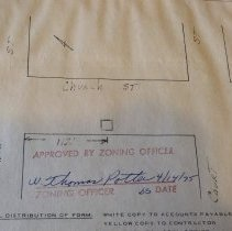 Image of Borough Permits - Philadelphia Electric Co.  Maintenance of mains  Church St. S/O Mechanic St.   Attached: Sketch  Street Occupancy Permit# '75-8 Boro Manager: W. Thomas Potter   North Wall; unit 3; shelf B; box 14 More documentation may be available at DHS