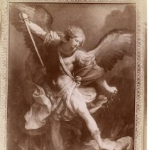 Image of Geil - photograph of fresco of Saint Michael by  Guido Reni  Located in folder: Misc.: Pictures - Sistine Chapel, others.