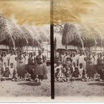 "Image of Geil - photoraph, native inhabitants of Dobu Island in Papua New Guinea. Back of photograph reads ""Dobu D'Entrecasteaux"""
