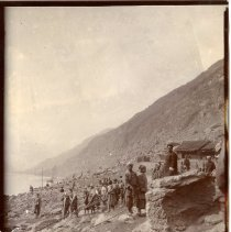 Image of Geil - photograph, possibly of the Yangtze River. Note on back reads 'tracker's mild rapid China""