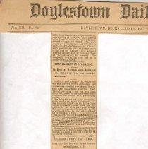 "Image of Geil - ""religion swept the town: evangelist geil met with great success in middletown, n.y."" Doylestown Daily Intelligencer, November 16, 1897"