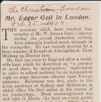 "Image of Geil - ""mr. edgar Geil in london"" The Christian, London, England, February 25, 1904"