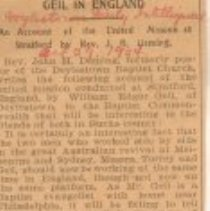 """Image of Geil - """"Geil in england: an account of the united mission at stratford by rev. j. h. deming"""" Doylestown Daily Intelligencer, Pennsylvania, October 29, 1904"""