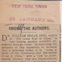 """Image of Geil - """"among the authors"""" new york times, January 29, 1910"""