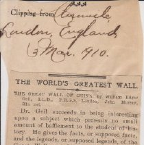 "Image of Geil - ""the world's greatest wall"" the london chronicle, london, england, March 3, 1910"